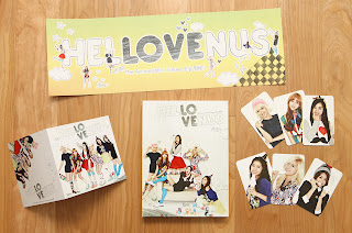 Hello Venus 2nd mini album Promo CD + complete photo + stamp card + paper flag