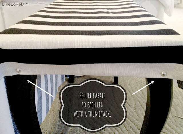 How To Upholster A Bench | LiveLoveDIY