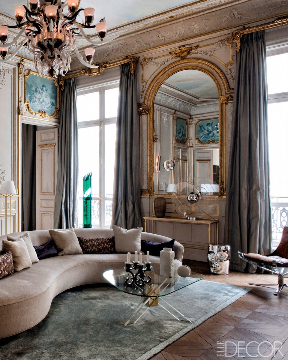In the living room of a Paris