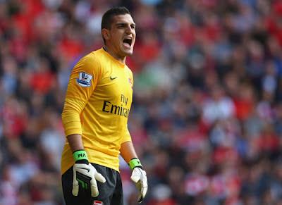 Vito Mannone liverpool v Arsenal 2012