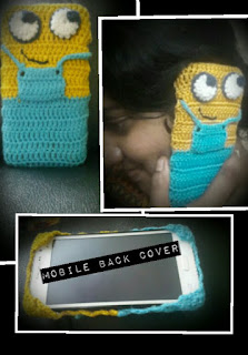 crochet minion mobile back case