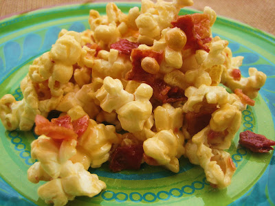 My Fare Foodie.: Bacon and Cashew Caramel Corn