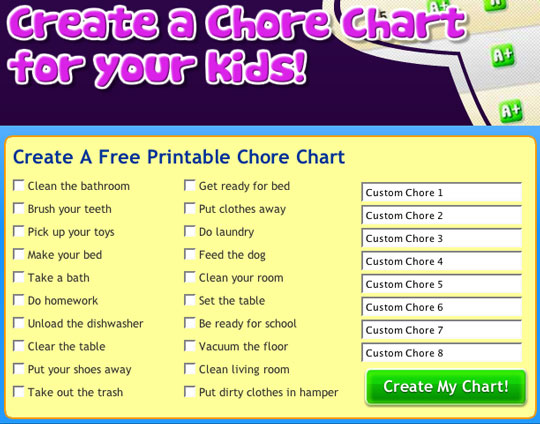 Make A Chore Chart  BesikEightyCo