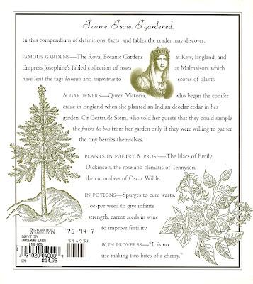 Gardener's Latin - Back Cover