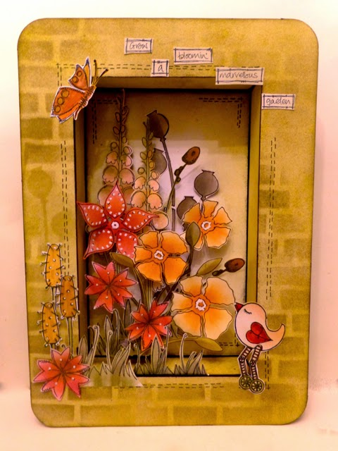 Altered shadow Box Paperartsy Style by Clare charvill