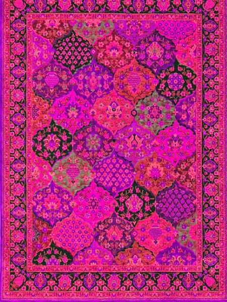 Ręcznie tkany dywan w kolorach różowych