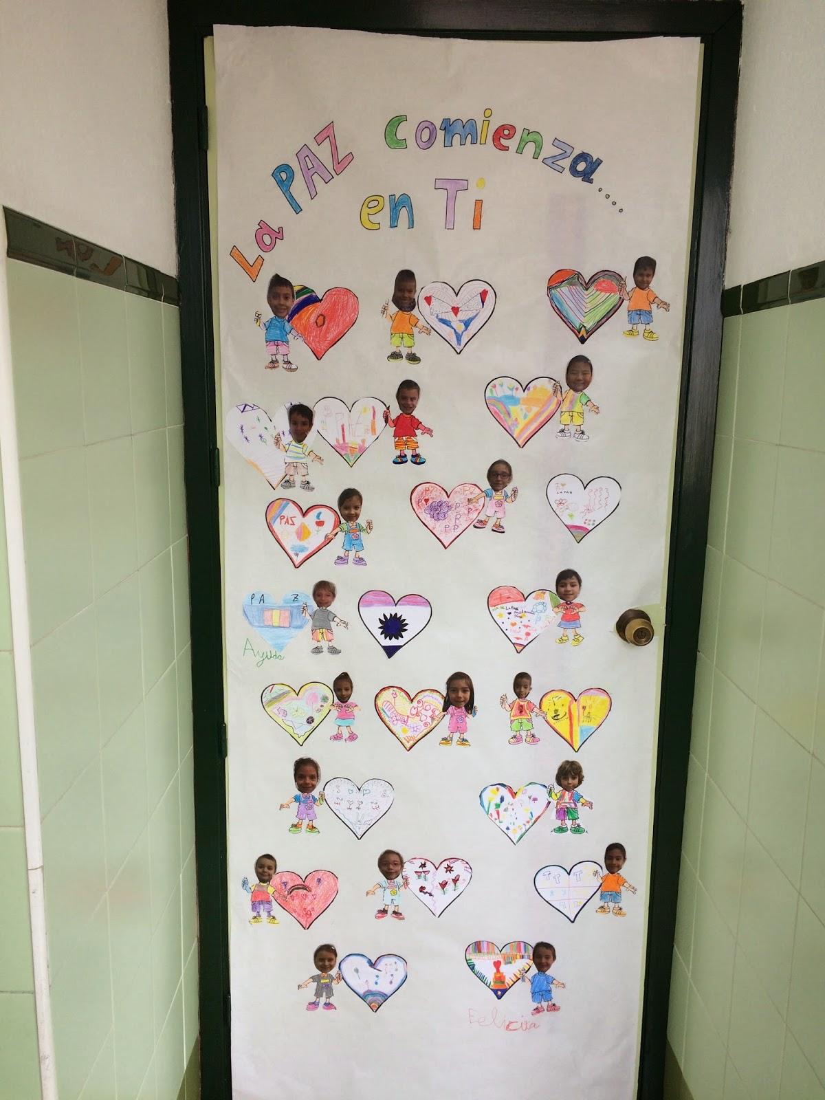 El rinconcito de segundo d a de la paz 30 de enero for Decoracion para puertas de preescolar