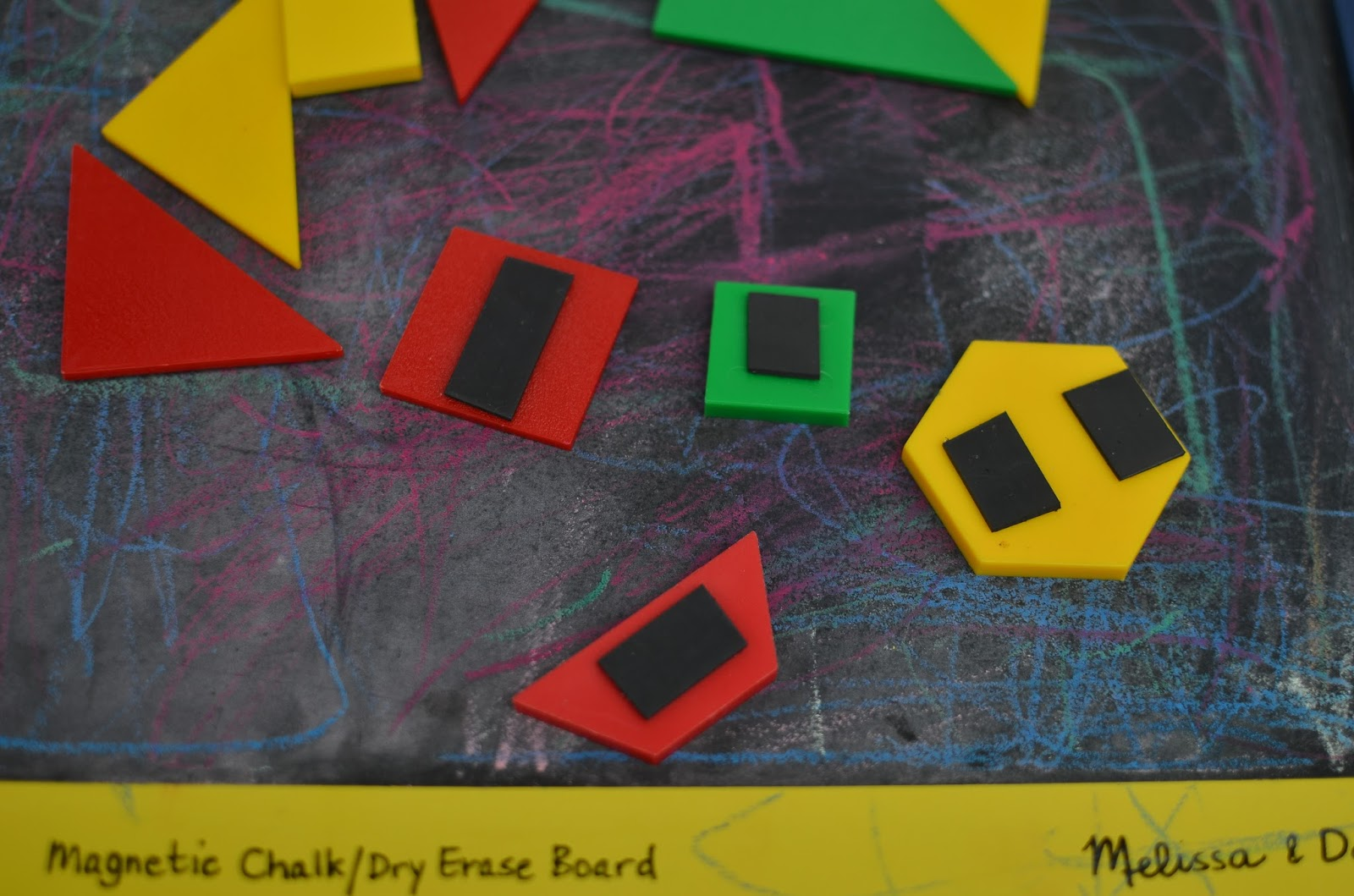 Magnetic Board with Magnetic tangrams perfect for traveling