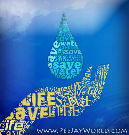 Typography - Save Water Save Life