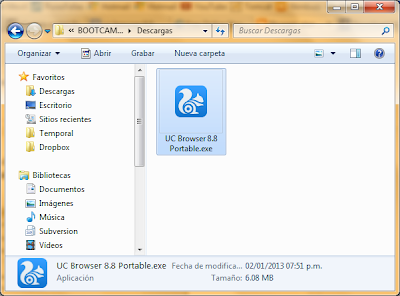 Uc Browser 8.8 Handler gratis para pc Internet gratis