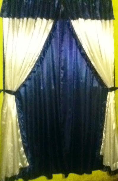doble cortinado combinacion de tela tropical y tela voile