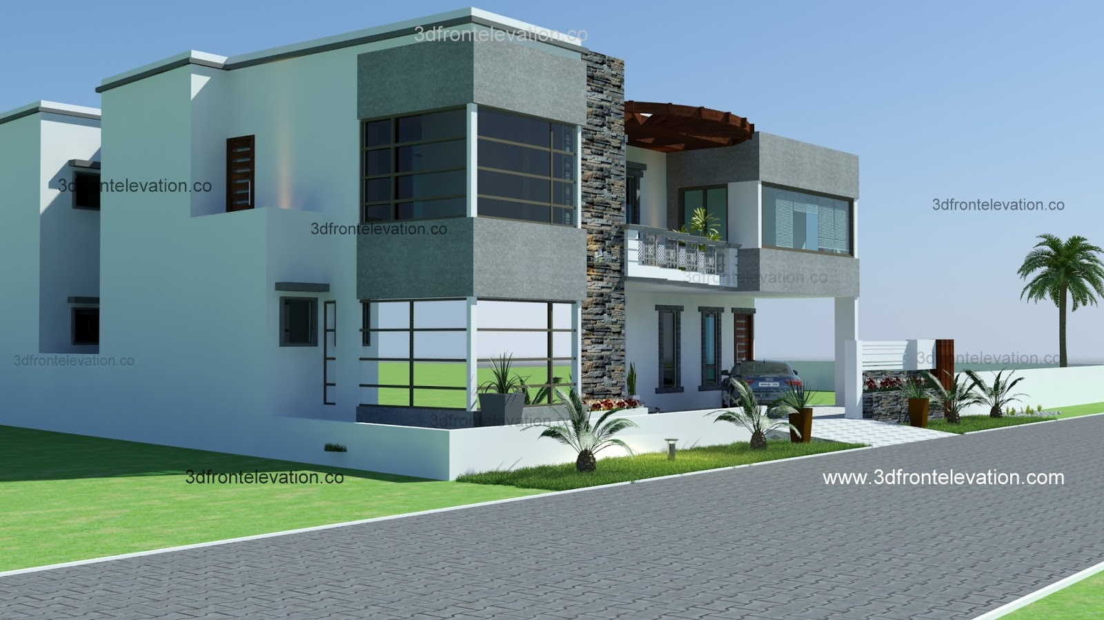 Front Elevation Karachi : D front elevation yards house plan