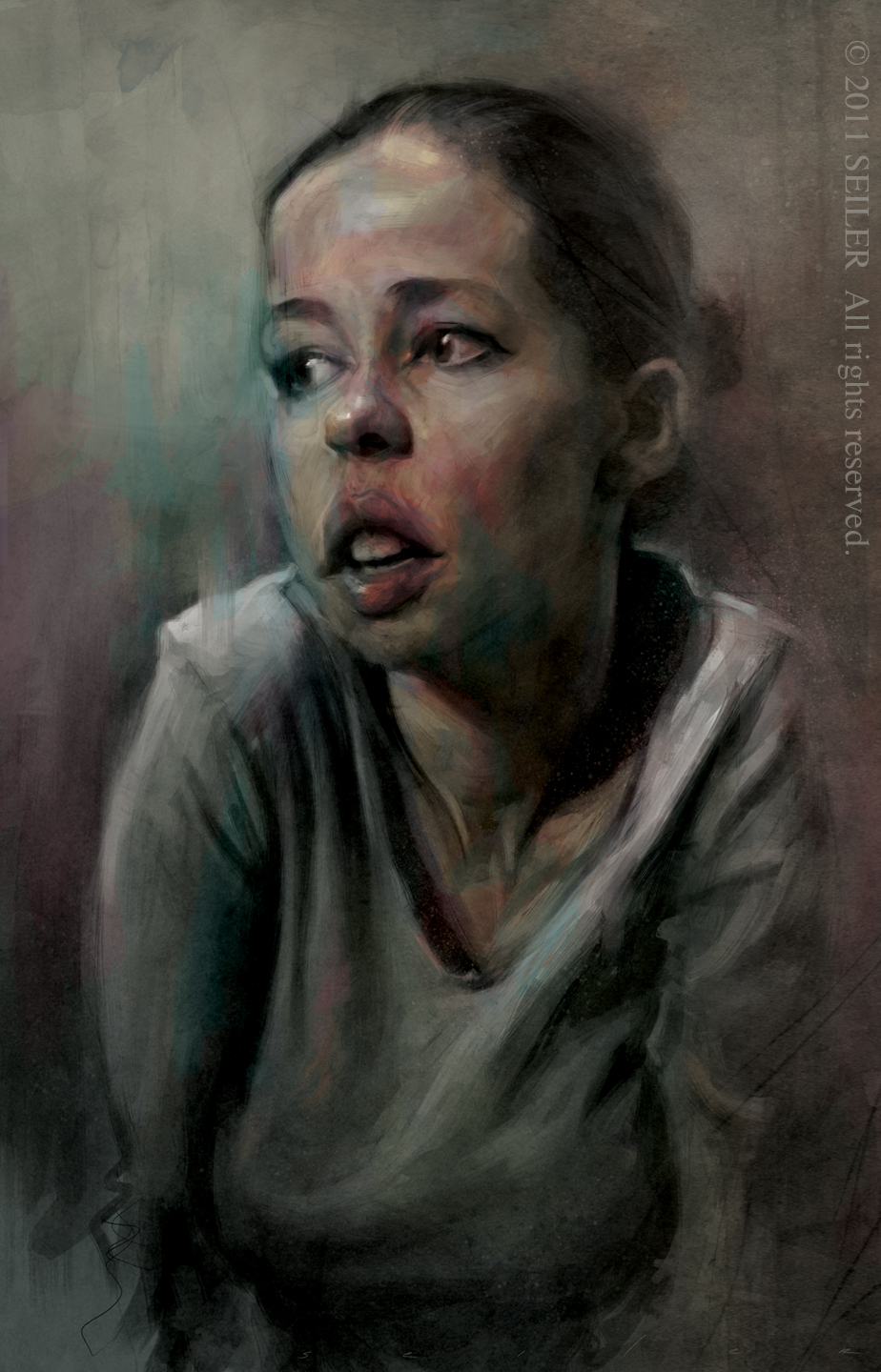 jenny saville an amazing artist i did this in about four to five hours