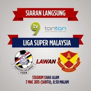 Live streaming PDRM Vs Selangor 7 Mac 2015