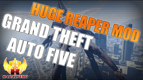 Grand Theft Auto 5 News ★ New GTA 5 Mod ★ Replaces Blimp With A Reaper From Mass Effect