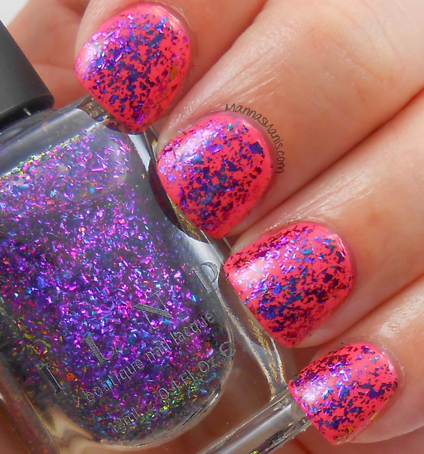 ILNP metropolis, a multicolored flakie nail polish