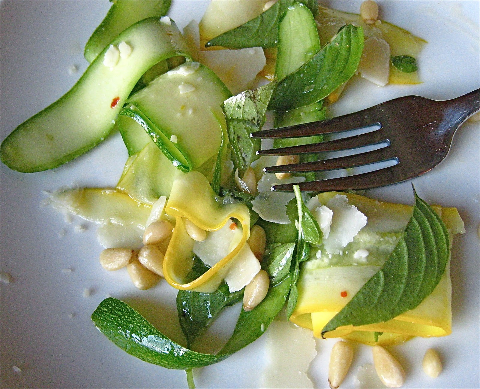 ... FIDDLER : Shaved Zucchini Ribbon Salad with Pine Nuts and Parmesan