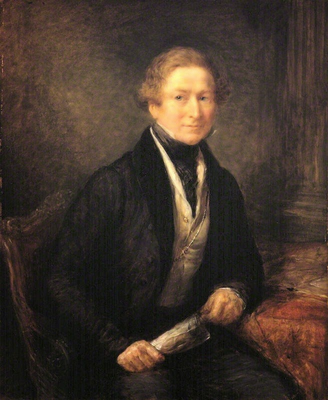 Sir Robert Peel, 2nd Baronet  by John Linnell oil on panel (1838)  © NPG 772 (lightened) (1)