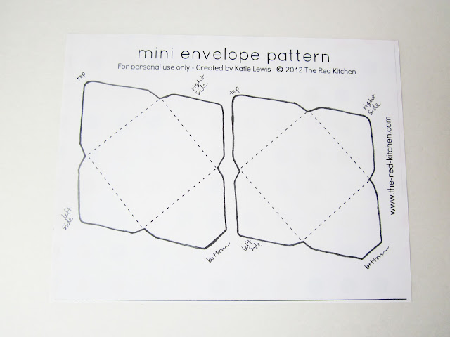 The red kitchen diy mini envelopes free printable for Free envelope printing template