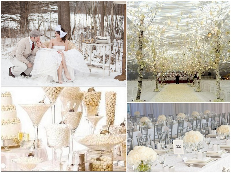 Cloud 9 weddings papers inspiration 101 white winter for All white wedding decoration ideas