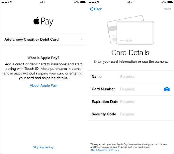Apple Pay in iOS 8.1 (2)