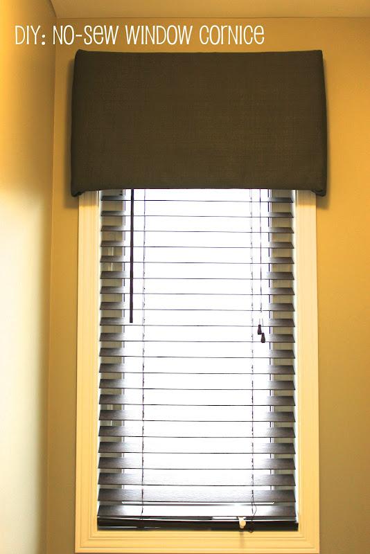 No Sew Window Cornice