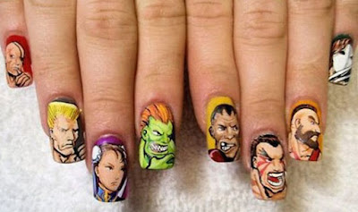 Nail Art StreetFighter+nails
