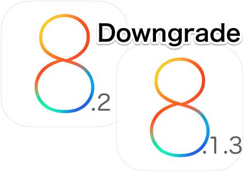 iOS 8.2をiOS 8.1.3にダウングレード