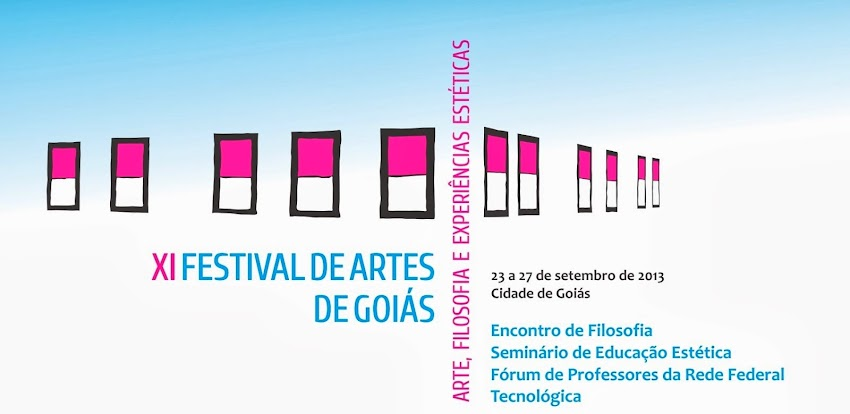 XI Festival de Artes de Goiás - Criar [Re] Encontros