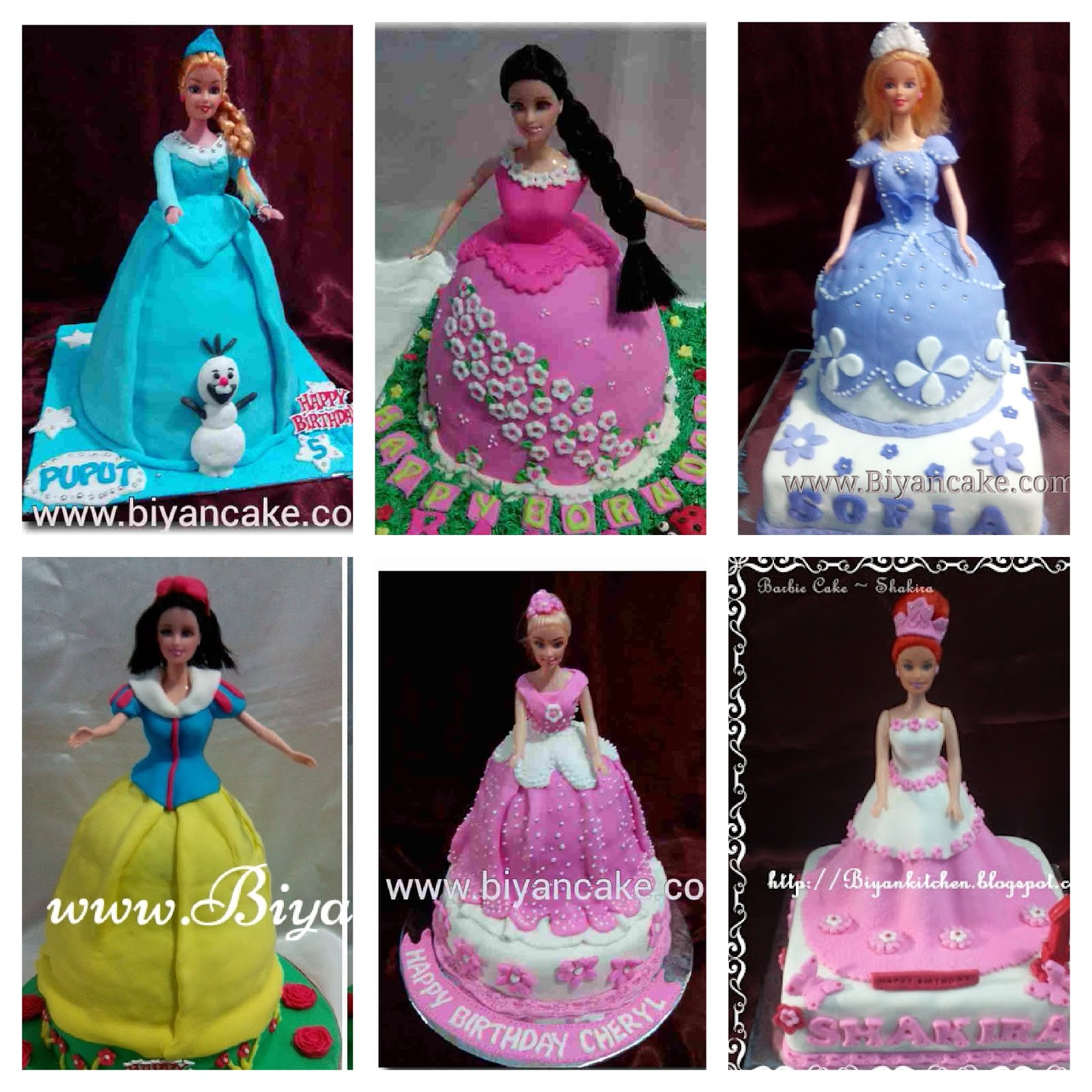 Barbie cake hias fondant