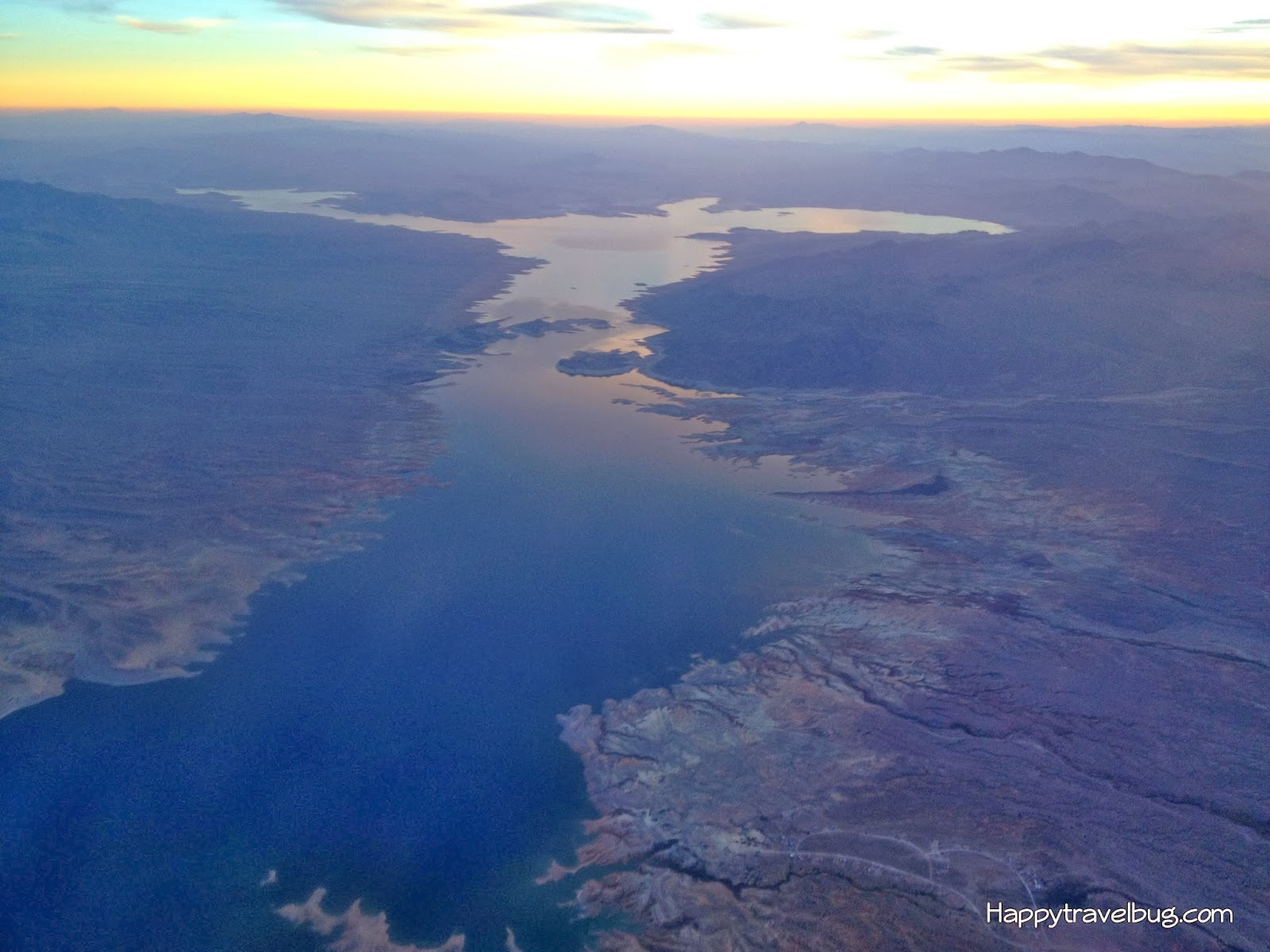 Lake and sunset from my airplane...Happytravelbug.com