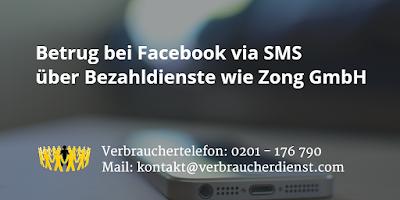 Zong GmbH | SMS | Betrug bei Facebook
