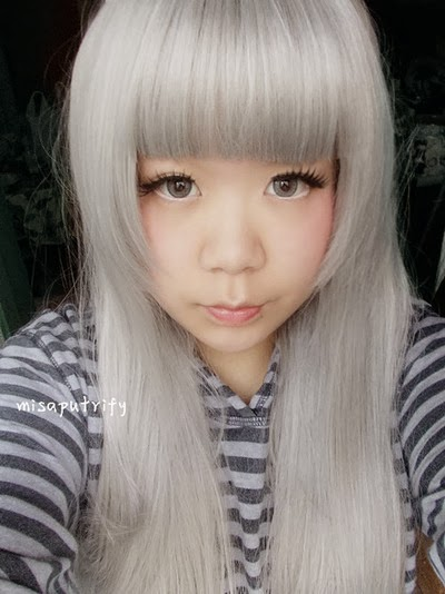 barbie puffy 3 tones grey