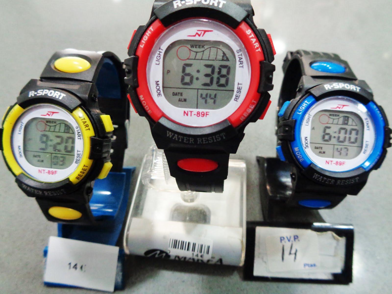 Relojes digitales cadete