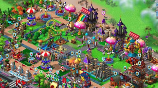 Coasterville gameplay Screen Zynga facebook