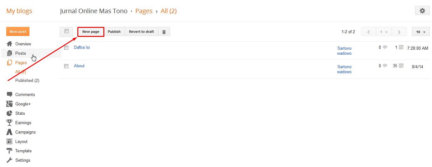 Cara Membuat Pages Daftar Isi Artikel Secara Otomatis