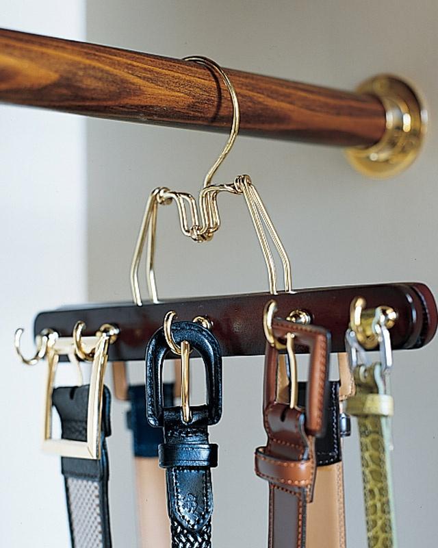 Cabides para organizar cintos