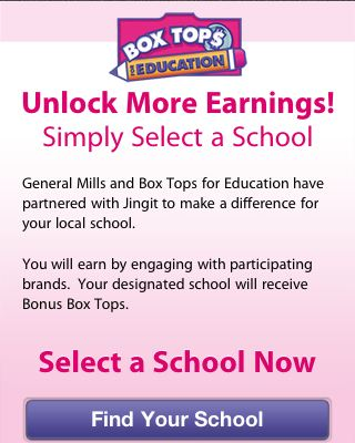 Box Tops For Education and Jingit