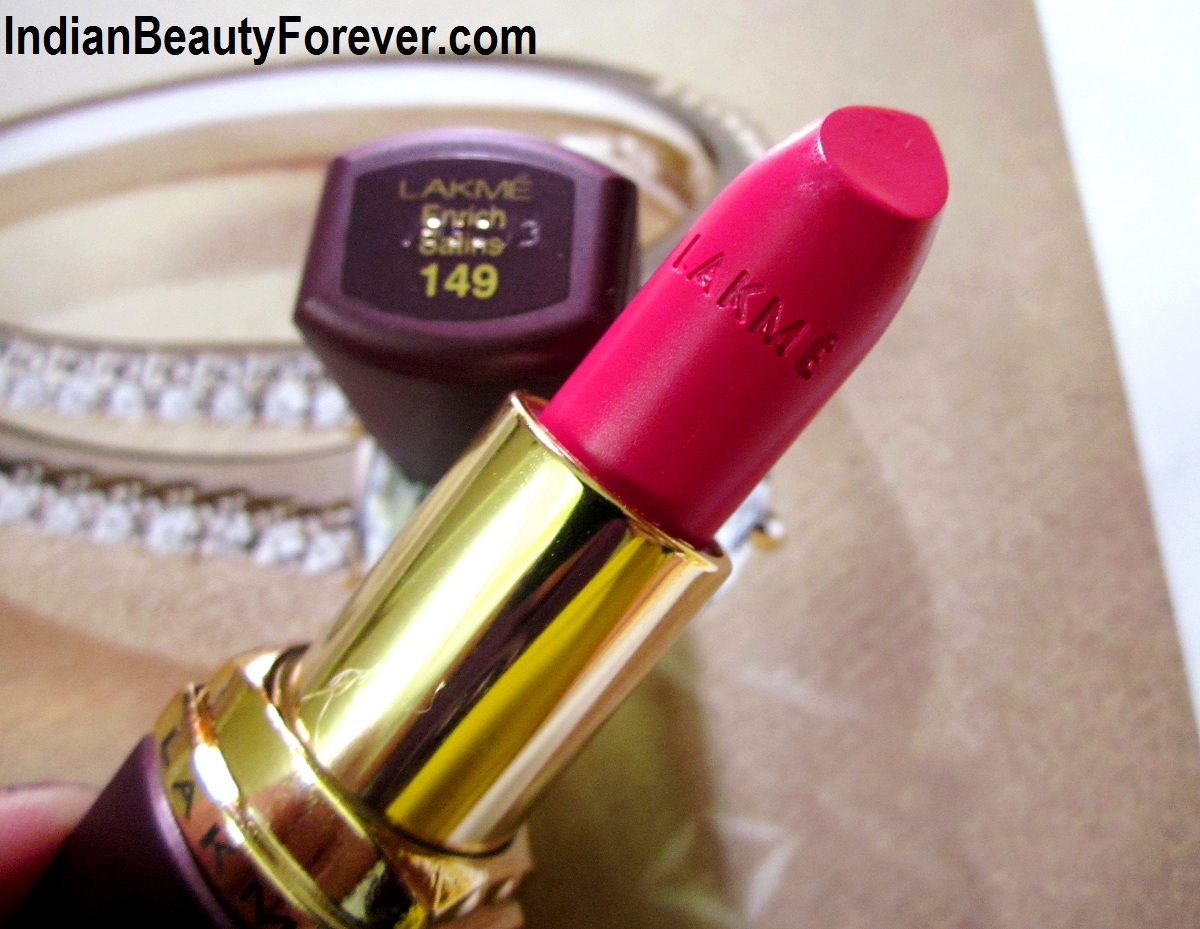 Lakme Enrich satin new shade no 149 Review, price swatches
