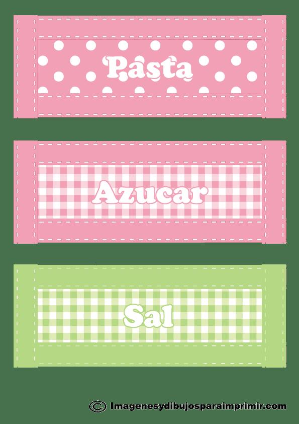 Etiqueta para frascos de cocina