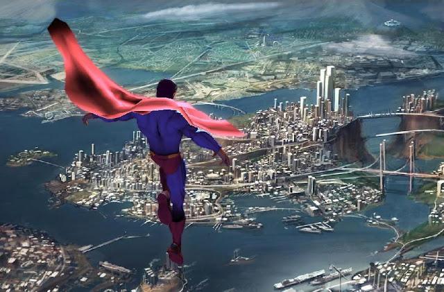 Superman se despide de los ciudadanos de Metrópolis