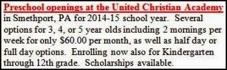 Openings At United Christian Academy