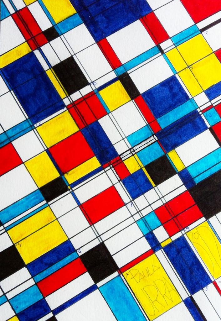 Estirniq piet mondrian el camino hacia la abstracci n for Imagenes de cuadros abstractos faciles