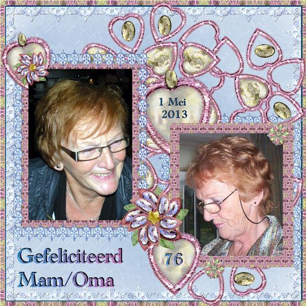 Gefeliciteerd mam