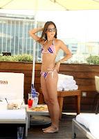 Jamie Chung shows off her bikini body