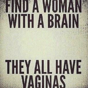 Encuentren una mujer con cerebro ya que todas tenemos vagina