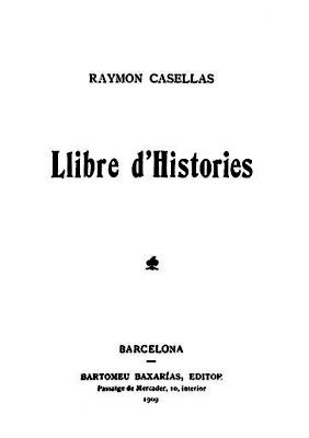 Portada del Llibre d'Històries (Raimon Casellas)