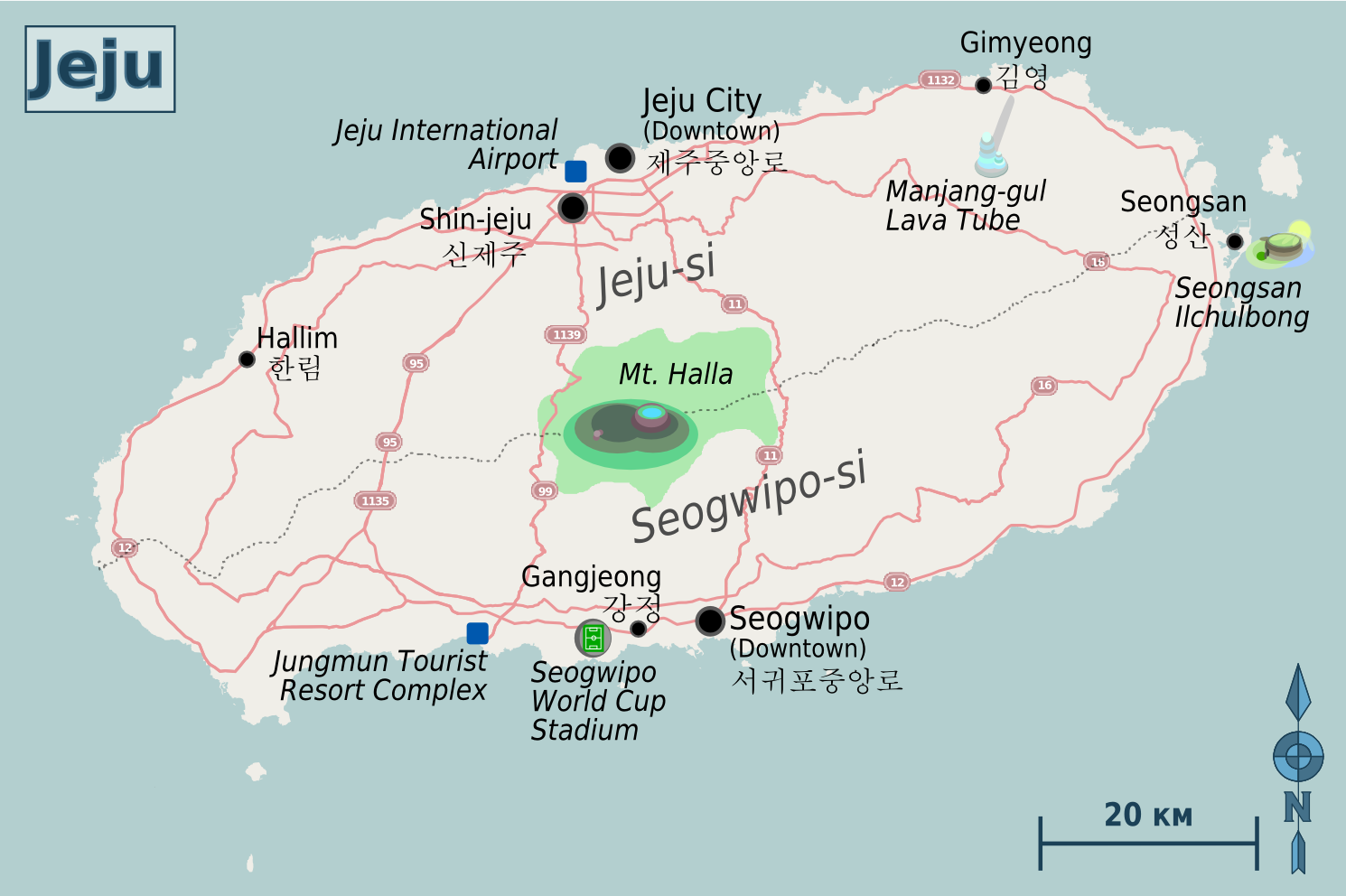 Jeju Island South Korea  City new picture : Jeju Island Map