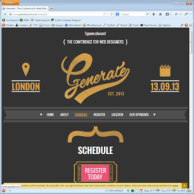 Screen shot of http://www.generateconf.com/schedule/.