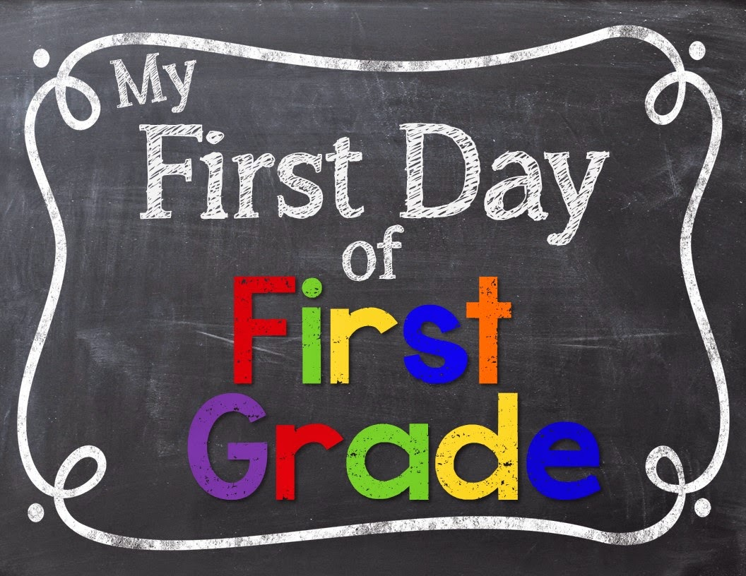 Obsessed image regarding first day of first grade printable
